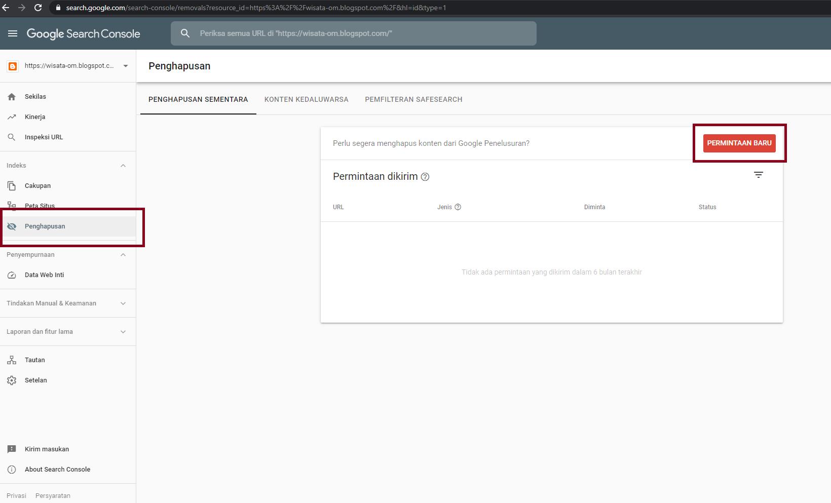 Cara Menghapus Link yang Error pada Index Google Menggunakan Webmaster Tools