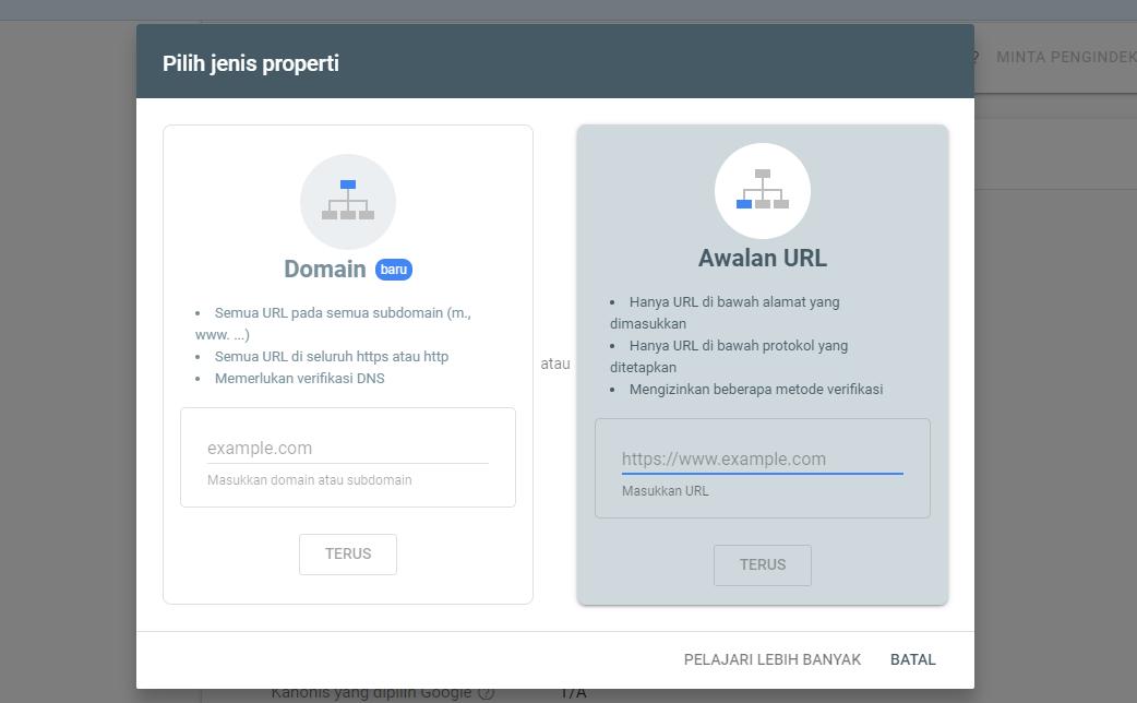 Cara Registrasi Blog ke Google Webmaster Tools