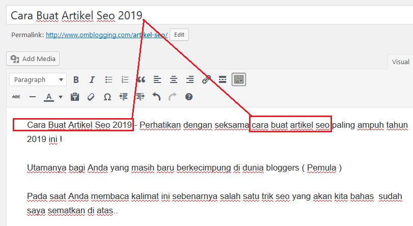 cara buat artikel seo