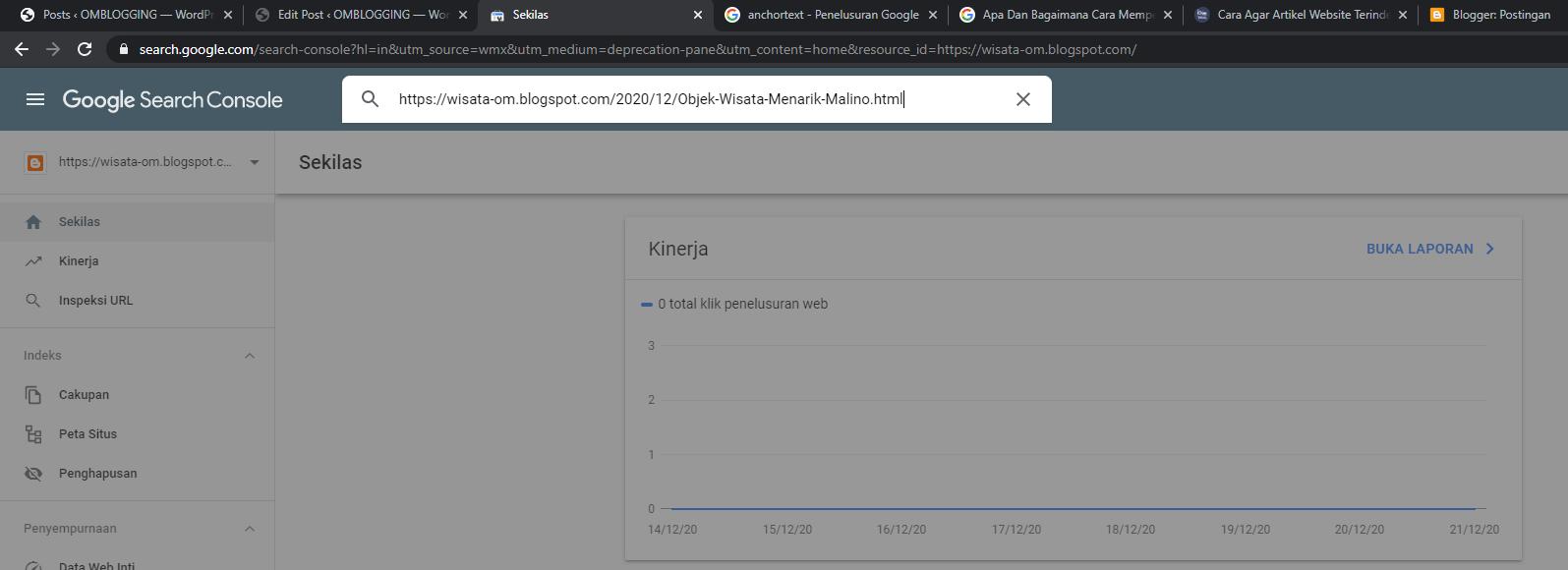 Cara Percepat Index Menggunakan Isnpeksi URL Google Search Console