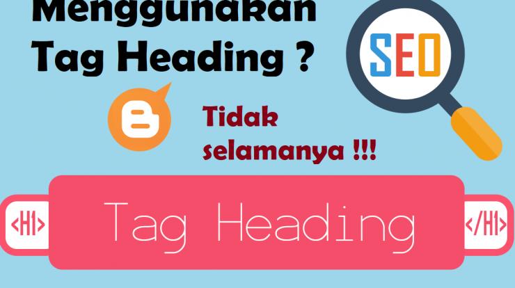 menggunakan tag heading