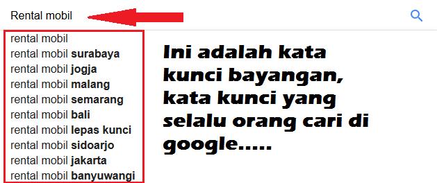 Hasil Google Auto Complete