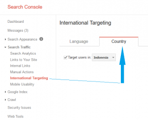 Penargetan negara di webmaster tools